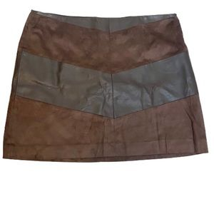 NWT The Limited faux suede micro mini skirt